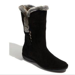 Stuart Weitzman Waterproof Suede Leather Boots